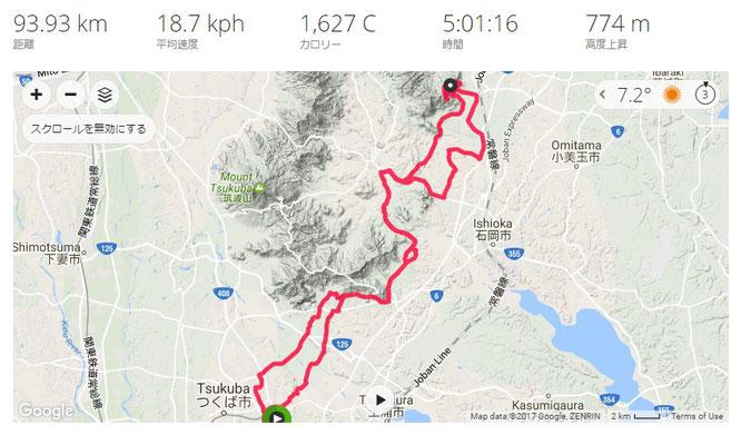 石岡市でサイクリング