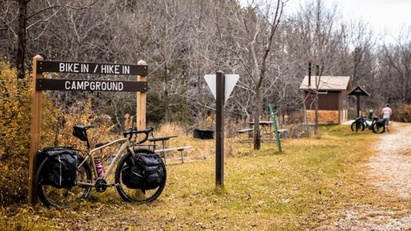 自転車でキャンプへ