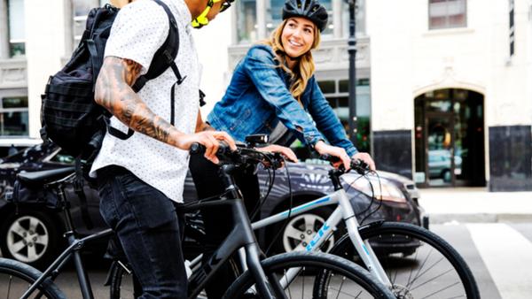 自転車でデートへ