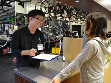 自転車店の接客