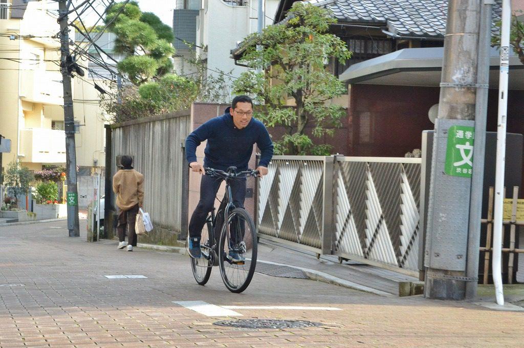 自転車通勤の風景
