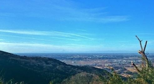 不動峠から富士山が・・・
