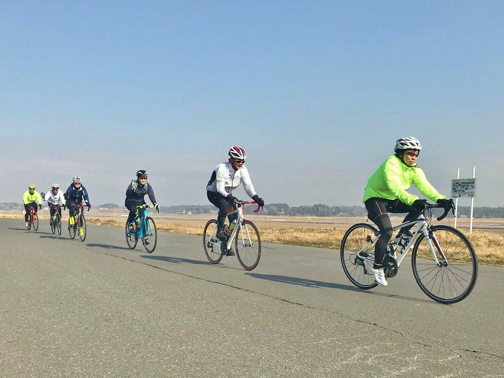 ロードバイク平地のローテーション