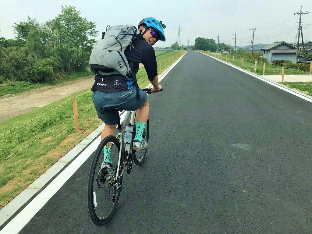 クロスバイクで小貝川を走る